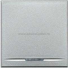 Legrand Bticino Axolute HC4055/2 Алюминий Выключатель кнопочный 10А (1NO контакт) 2 мод