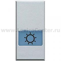 """Legrand Bticino Axolute HC4921LA Алюминий Клавиша с подсвеч-ым символом """"Лампа"""" для выкл-ей в дизайне AXIAL, 1 мод"""