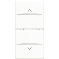 Legrand Bticino Axolute HD4037 White Axial Выключатель жалюзийный кнопочный 10А, 1 мод