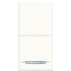 Legrand Bticino Axolute HD4055 White Выключатель кнопочный (NO контакт) 16 А 1 мод