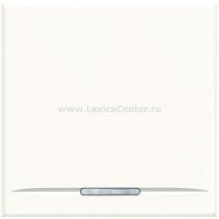 Legrand Bticino Axolute HD4055M2 White Выключатель кнопочный (NO контакт) 16 А 2 мод