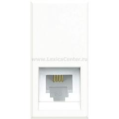 Legrand Bticino Axolute HD4258C11N White Розетка телефон RJ11 3 кат. 1 мод