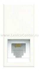Legrand Bticino Axolute HD4258C12D White Розетка телефон RJ12 3 кат. 2 мод, тип коннектора К10