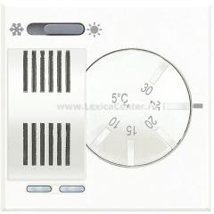 Legrand Bticino Axolute HD4442 White Электронный комнатный термостат со встроенным переключателем режимов 2 А, 250 В