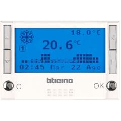Legrand Bticino Axolute HD4451 White Термостат электронный программир 7прог/7 дней, 2х1,5V 3 мод