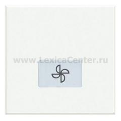 Legrand Bticino Axolute HD4921M2LE White Клавиши с подсвечиваемыми символами для выключателей в дизайне AXIAL - 2 модуля