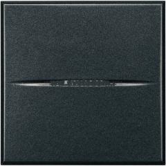 Legrand Bticino Axolute HS4005/2 Антрацит Axial Выключатель кнопочный 10А (1NO контакт), 2 мод