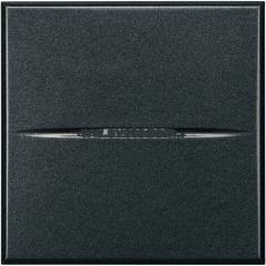 Legrand Bticino Axolute HS4034/2 Антрацит Выключатель кнопочный 10А (1NC контакт) 2 мод 250 В~