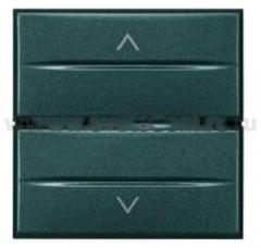 Legrand Bticino Axolute HS4037/2 Антрацит Axial Выключатель жалюзийный кнопочный 10А), 2 мод