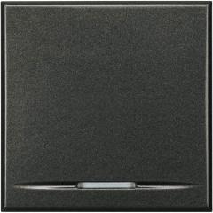 Legrand Bticino Axolute HS4055/2 Антрацит Выключатель кнопочный 10А (1NO контакт) 2 мод