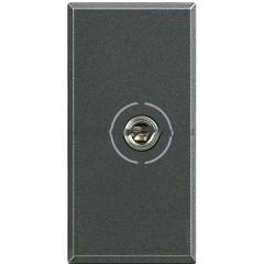 Legrand Bticino Axolute HS4280 Антрацит Аудио разъем Jack 3,5 мм