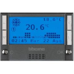 Legrand Bticino Axolute HS4451 Антрацит Термостат электронный недельный батарея 2х1,5V 3 мод