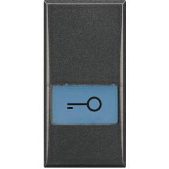 "Legrand Bticino Axolute HS4921LF Bticino MH Axolute Антрацит Клавиша с подсвеч. символом ""ключ"" для выключателей в дизайне AXIAL 1 мод"