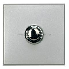 Legrand Bticino Axolute HX4005/2 Алюминий Style Выключатель кнопочный 10А (1NO контакт), 2 мод