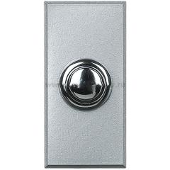 Legrand Bticino Axolute HX4005 Алюминий Style Выключатель кнопочный 10А (1NO контакт), 1 мод