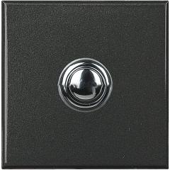 Legrand Bticino Axolute HY4005/2 Антрацит Style Выключатель кнопочный 10А (1NO контакт), 2 мод