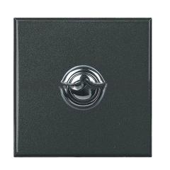 Legrand Bticino Axolute HY4005/2W Антрацит Style Выключатель кнопочный 10А (1NO контакт), 2 мод (безвинт. зажим)