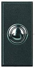 Legrand Bticino Axolute HY4005W Антрацит Style Выключатель кнопочный 10А (1NO контакт), 1 мод (безвинт. зажим)