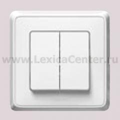 Legrand Cariva Белый Выключатель 2-клавишный 773658