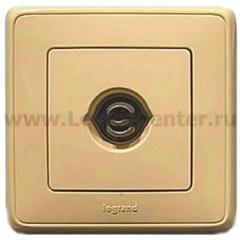Legrand Cariva Крем Розетка TV единственная 1.5 дБ, 0-2400 МГц, разъём типа F(резьбовой)