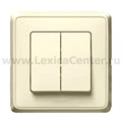 Legrand Cariva Крем Выключатель 2-х клавишный 773758