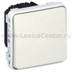 Legrand Plexo Белый Мех Выключатель 1-клавишный 2-х полюсной IP55 (арт. 69627)