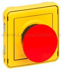 Legrand Plexo Мех Кнопка экстренного откл. 1Н.З. контакт (желтая лиц. панель, красная кнопка) (арт. 69547)