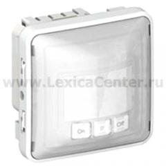 Legrand Plexo Серый/Белый Мех Датчик движения Комфорт 40-400Вт для л/н 2-х пров.схема подкл-я IP55 (арт. 69501)