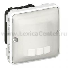Legrand Plexo Серый/Белый Мех Датчик движения Стандарт 500-1000Вт 3-х провод.схема подкл-я IP55 (арт. 69502)