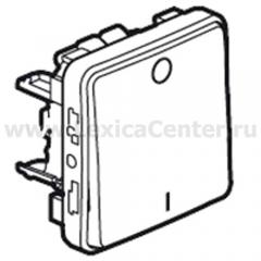 Legrand Plexo Серый Мех Выключатель 1-клавишный 2-х полюсной IP55 (арт. 69530)