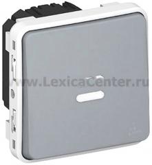 Legrand Plexo Серый Мех Выключатель 1-клавишный с/п с задержкой отключения (арт. 69504)