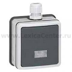 Legrand Plexo Серый Выключатель 1-клавишный кнопочный с/п, накладной, в сборе, 10А, IP66 (арт. 90462)