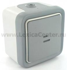Legrand Plexo Выключатель 1-клавишный кнопочный с/п (НО-контакт), накладной, 10А (арт. 69722)