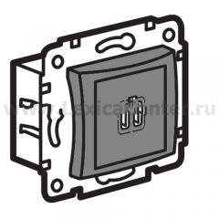 Legrand Valena Алюминий Розетка 2-ая USB