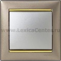 Legrand Valena Титан/Золото Рамка 1-ая