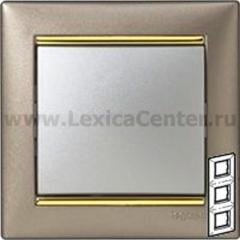 Legrand Valena Титан/Золото Рамка 3-ая вертикал.
