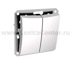Lexel Дуэт белый Двухклавишный выключатель (сх.5) с подсветкой (SE WDE000153)