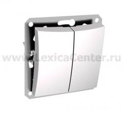Lexel Дуэт белый Двухклавишный выключатель (сх.5) (SE WDE000151)