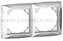 Lexel Дуэт белый Рамка 2-х местная (SE WDE000102)
