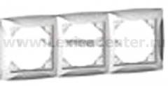 Lexel Дуэт белый Рамка 3-х местная (SE WDE000103)