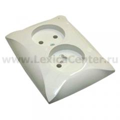Lexel Дуэт белый Розетка двойная без заземления (SE WDE000120)