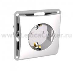 Lexel Дуэт белый Розетка с зазамлением с защитными шторками (SE WDE000145)