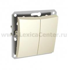 Lexel Дуэт бежевый Двухклавишный выключатель (сх.5) (SE WDE000251)