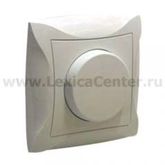 Lexel Дуэт бежевый Светорегулятор поворотный 300Вт, для л/н и г/л на 230В, в сборе (SE WDE000234)