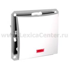 Lexel Дуэт серебро Одноклавишный переключатель (сх.6) с подсветкой (SE WDE000363)