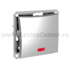 Lexel Дуэт серебро Одноклавишный выключатель (сх.1) с подсветкой (SE WDE000313)
