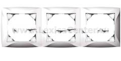 Lexel Дуэт серебро Рамка 3-х местная (SE WDE000303)