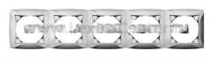 Lexel Дуэт серебро Рамка 5-ти местная (SE WDE000305)
