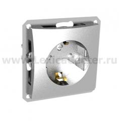 Lexel Дуэт серебро Розетка с зазамлением с защитными шторками (SE WDE000345)