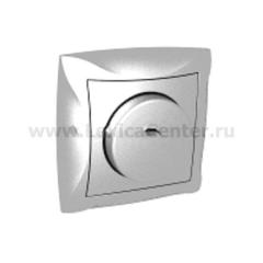 Lexel Дуэт серебро светорегулятор поворотный 300Вт, для л/н и г/л на 230В, в сборе (SE WDE000334)
